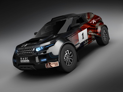 Excite Rallye Raid Team's new car - the D4 WN5 produced by RaBe Race Cars