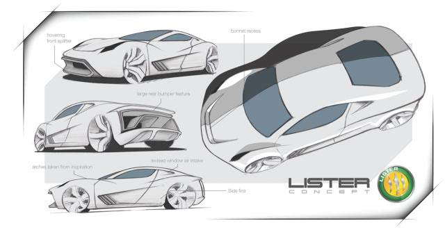 The Lister hypercar concept seen from various angles.  It looks pretty good all around.....